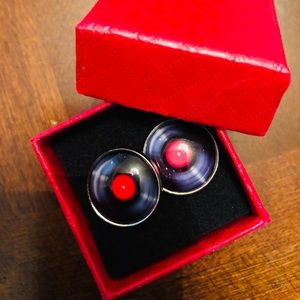 Other - Old School Vinyl Record Shaped Cuff Links